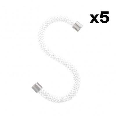 5er-Set S-Haken Seil   Weiß