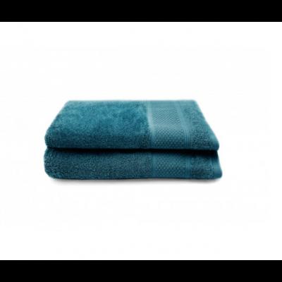 Set of 2 Bath Towels Gigi 50x100 cm | Petrol