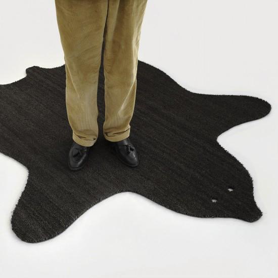 Fußmatte Bärenfell | Schwarz