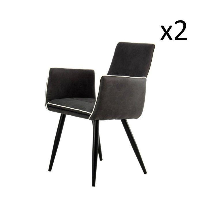 Set de 2 Chaises Penelope | Noir