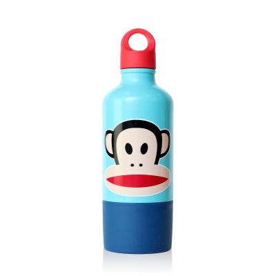 Trinkflasche mit Becher Blau