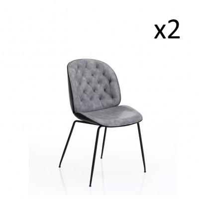 2er-Set   Stuhl Phoenix   Grau