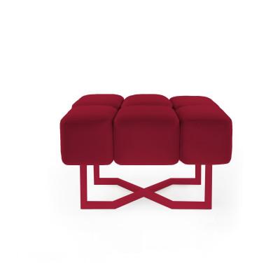 Sofa Puffy S | Rubinrot