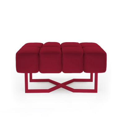 Sofa Puffy M | Rubinrot