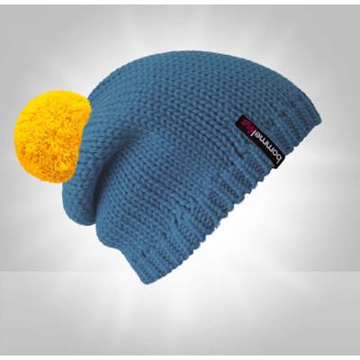 bommelME Kinder Mütze Blau/Gelb
