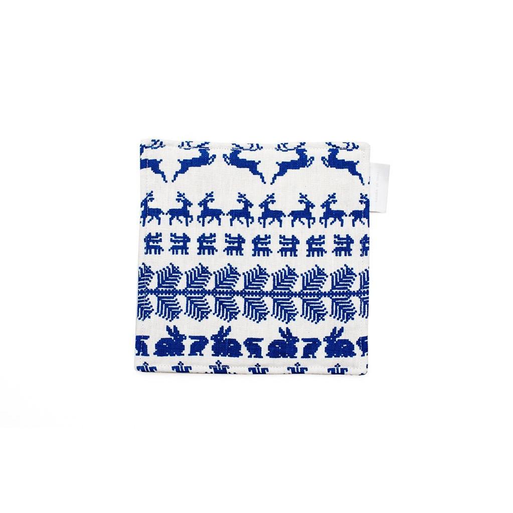 Pot Onderlegger Wit/Blauw