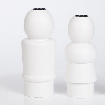Parents Candleholders White- set of 2