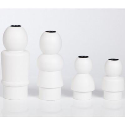 Family Candleholders White- set of 4