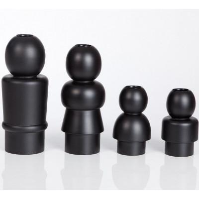 Family Candleholders Black- set of 4