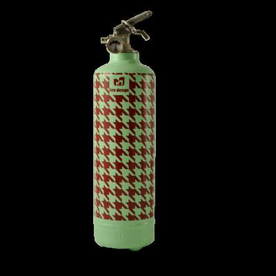 Design Feuerlöscher Pied de Poule
