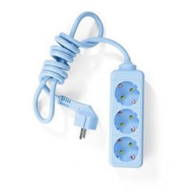 Farbige Steckdosenleiste | Blau