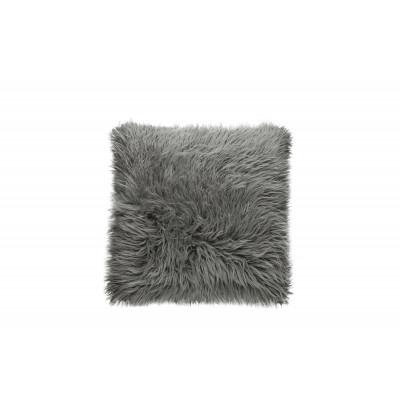 Großes Kissen Flokati | Grau