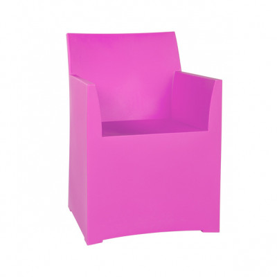 Rainbow Stool with cushion - Pink