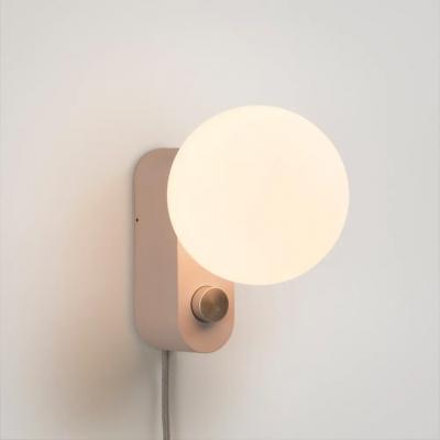Lampe Alumina Blossom mit Kugel XL Glühbirne   Rosa