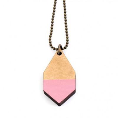 Diamante Small Necklace   Pink