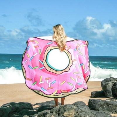 Round Beach Towel | I Donut Care