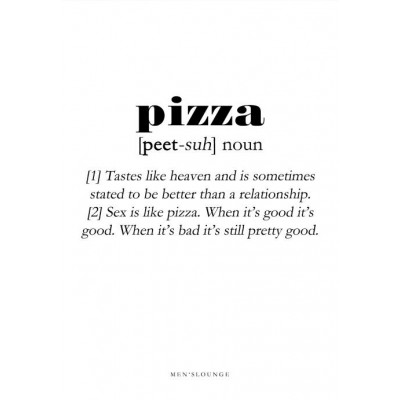 Poster Definition   Pizza
