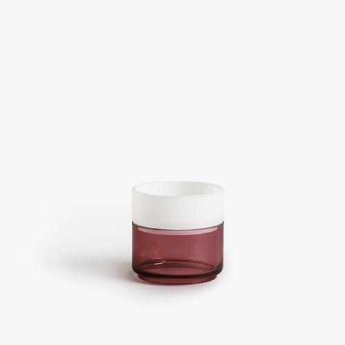 Pi-No-Pi-No Vase | Grau / Fuchsia / Opalweiß
