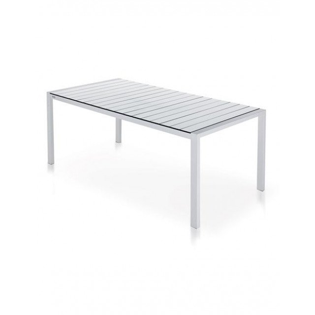 Piano Dining Table White