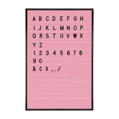 Rosa Briefkarton + Schwarze Briefe