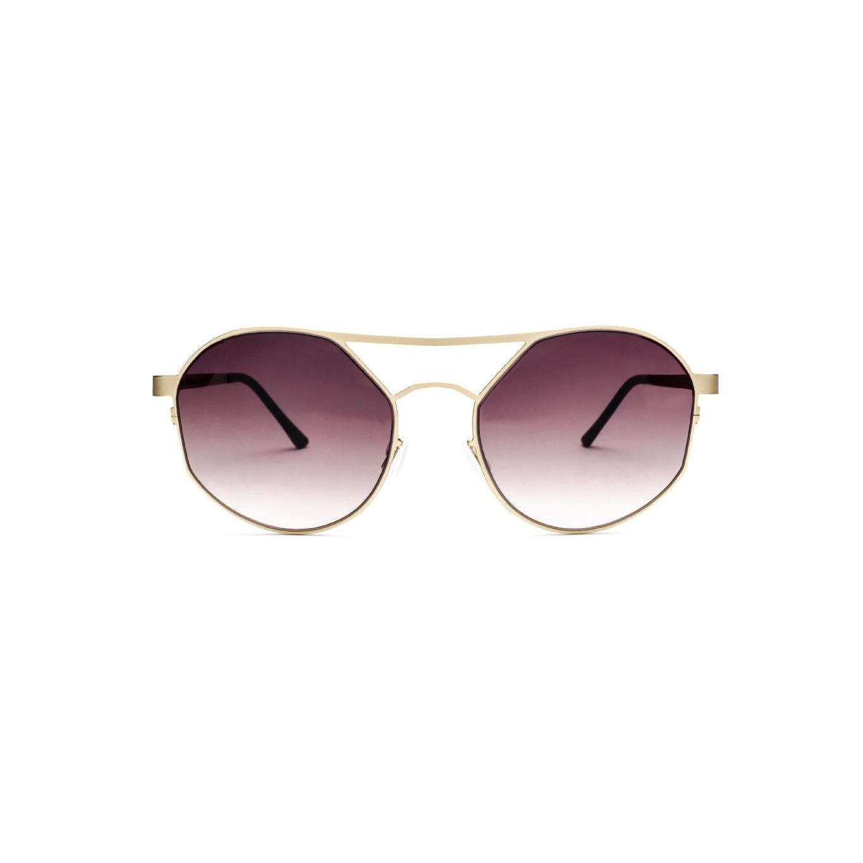 Women's Sunglasses Pilot One | Gold / Dark Red