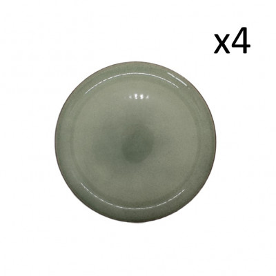 Teller Hamuza Ø 27 cm 4er-Set | Grün