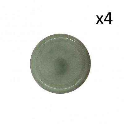 Teller Hamuza Ø 14 cm 4er Satz | Grün