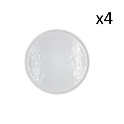 Teller Zino Ø 28 cm 4er-Set | Weiß
