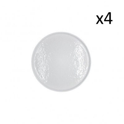 Teller Zino Ø 22 cm 4er-Set | Weiß