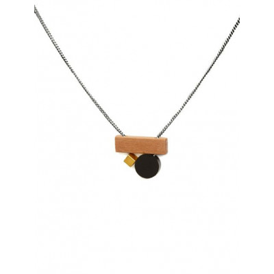 PLAY Necklace 1   Black, Gold