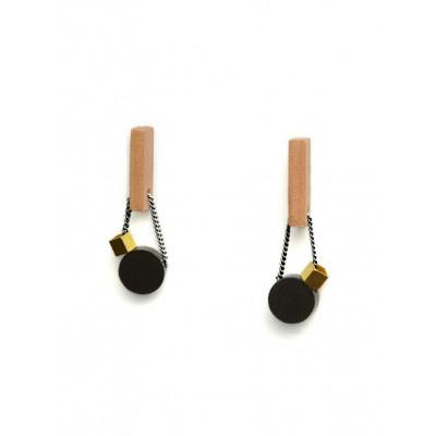PLAY Earrings 1   Black, Gold