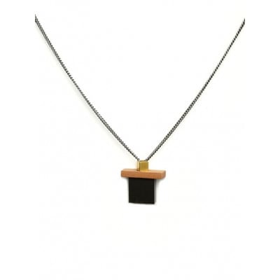 PLAY Necklace 2   Black, Gold