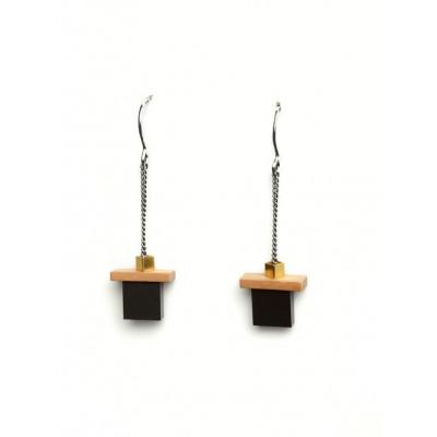 PLAY Earrings 2   Black, Gold