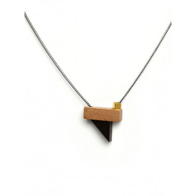 PLAY Necklace 3   Black, Gold