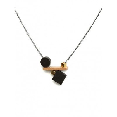 PLAY Necklace 4   Black, Gold