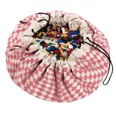 Spielzeug-Aufbewahrungstasche | Rosa Diamanten