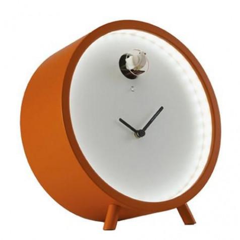 Plex Kuckuckstischuhr - Orange