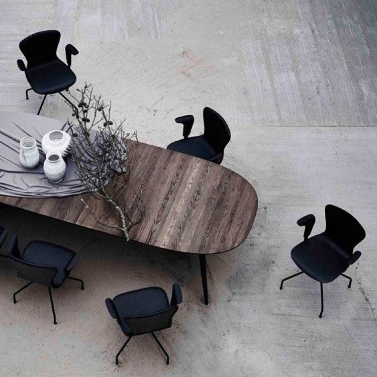 PLAYswing Stuhl mit Armlehne Hero Leder | Schwarz