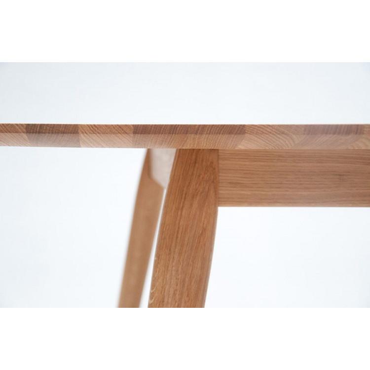 Esstisch PLAYdinner Lamé | L180 ohne Erweiterung | Natürliches Eichenholz
