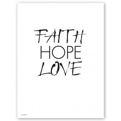 Faith Hope Love Print