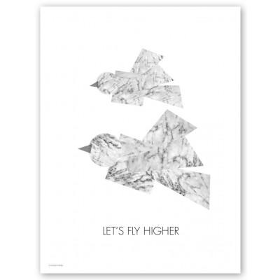 Higher Marble Print