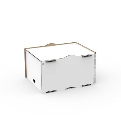 Einseitige Box Pop 30x36.5x21 cm | Weiß