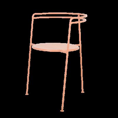 Speisestuhl-Punkt | Orange