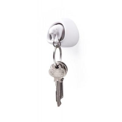 Schlüsselanhänger Eisbär   Weiß