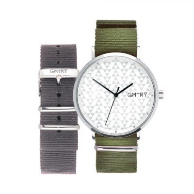 The Polygon Series White   Khaki & Grey