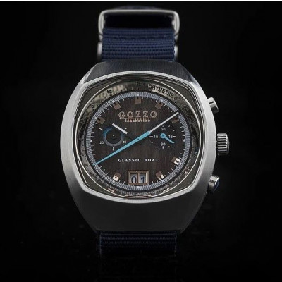 Timepiece Maestrale   Silver with Blue Bracelet