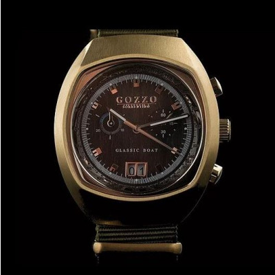 Timepiece Maestrale   Gold with Green Bracelet