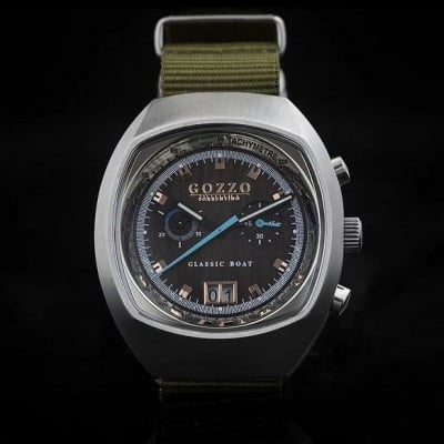 Timepiece Maestrale   Silver with Green Bracelet