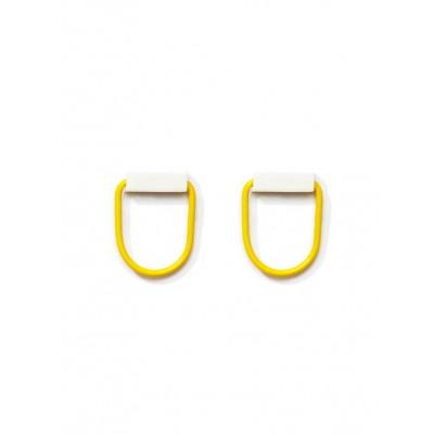 POP Earrings 2   White, Yellow