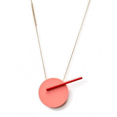 POP Necklace 3   Pink, Red, Gold